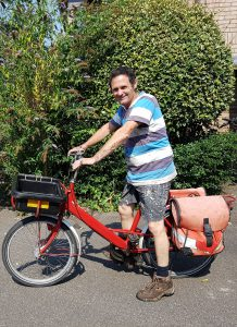 A painter with his cargo bike