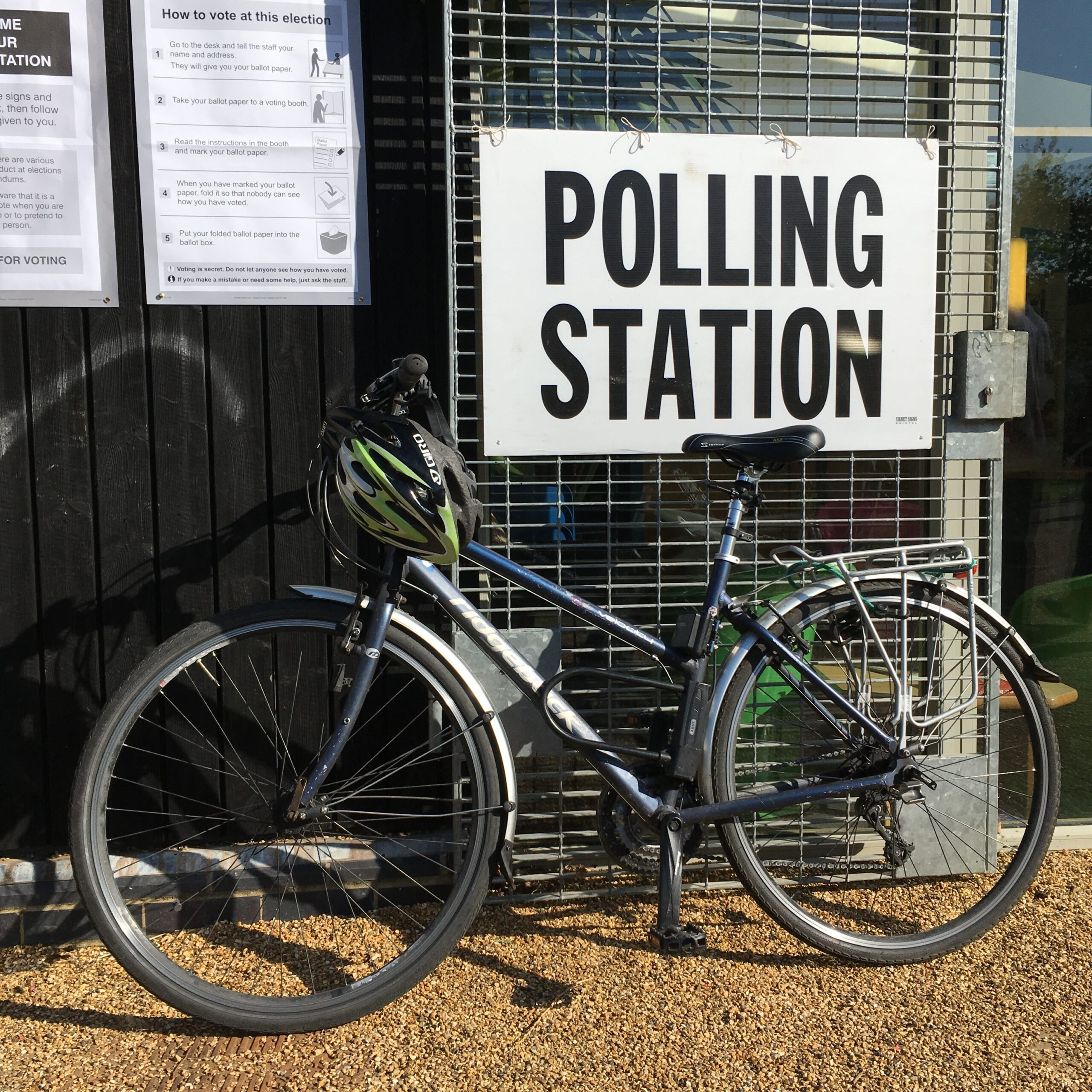 Bike at a polling station