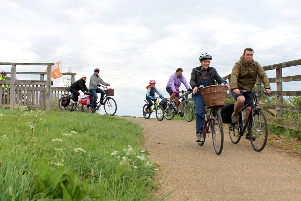 Cyclists on the Reach Ride 2019