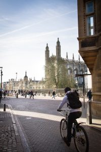 Cycling in Cambridge city centre