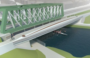 Option 2 of the proposed Abbey-Chesterton bridge