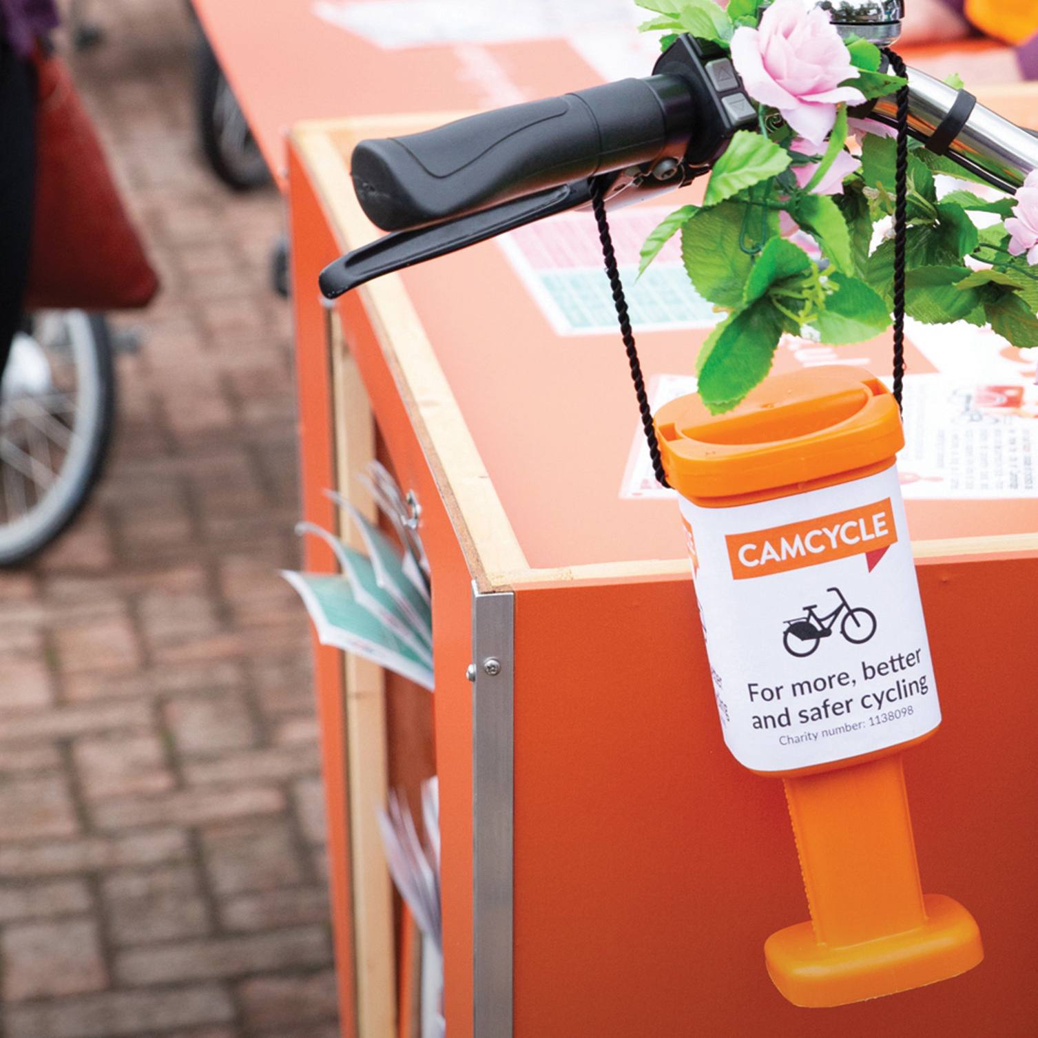 Camcycle fundraising tin