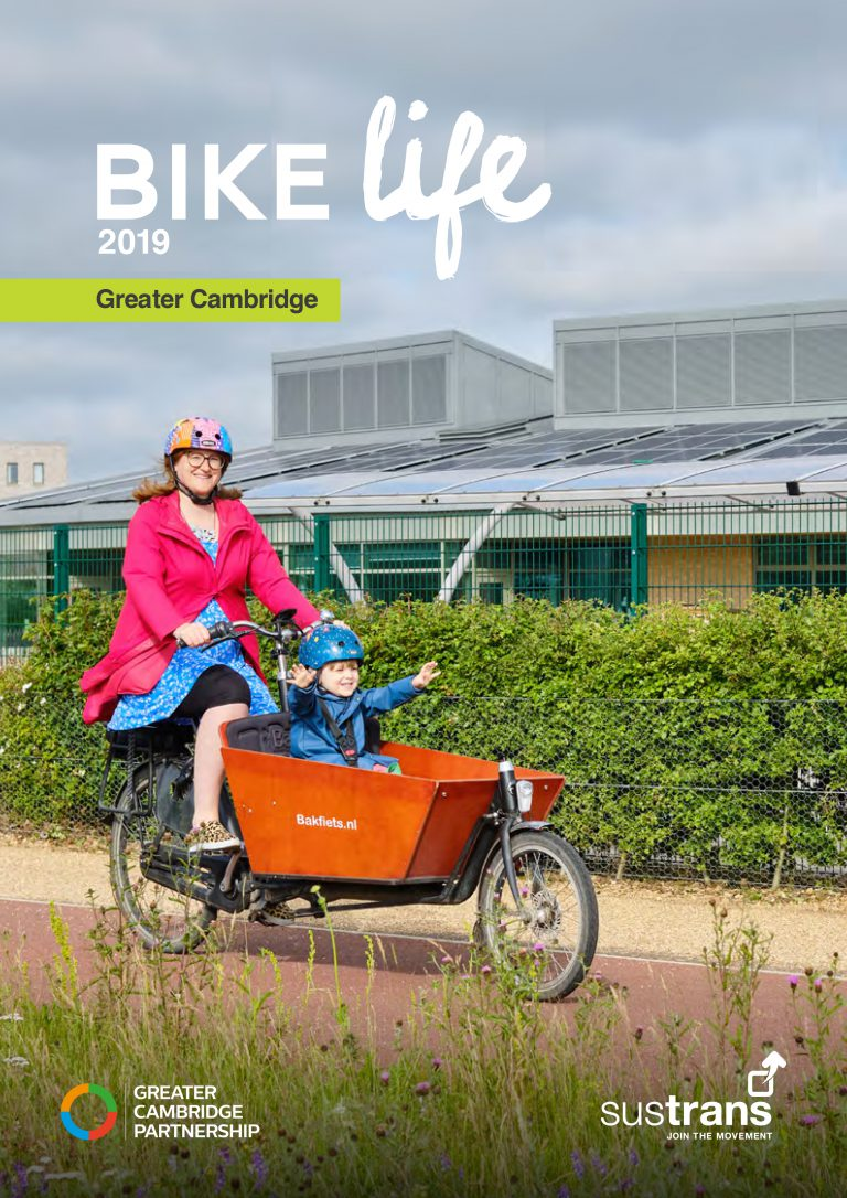 Sustrans Bike Life report 2019 for Greater Cambridge