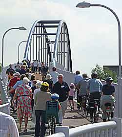 Jane Coston Cycle Bridge opening; Photo by Dave Earl