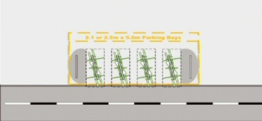Plan for a cycle parking installation