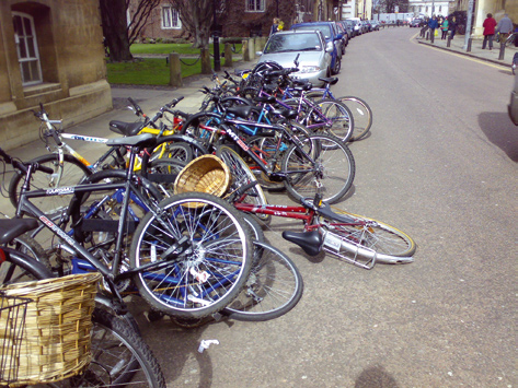 Cycle parking shortage