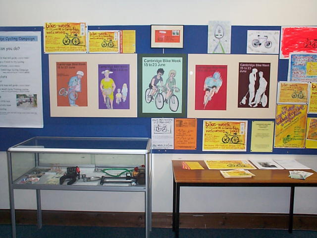 Photo of Exhibition, showing art competiton entries