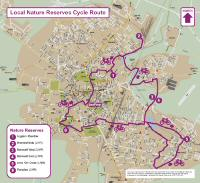 Map of Local Nature Reserves Cycle Route
