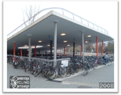 Cycle parking in Assen