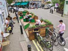 Example of a parklet