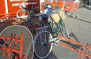 Photo of Cycle Parking at Staples, Cambridge (18k)