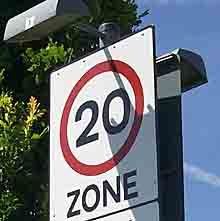 20mph sign: most residential streets would ideally have 20mph speed limits