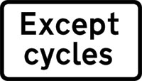 Except cycles